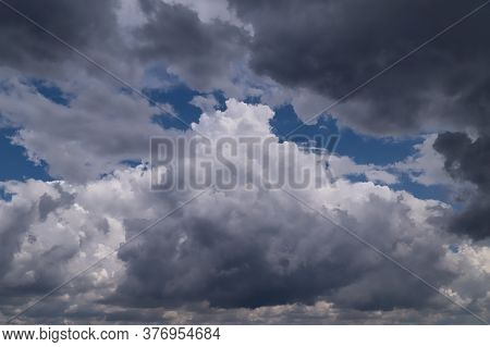 Dramatic Sky With Dark Storm Clouds, Rain Will Come