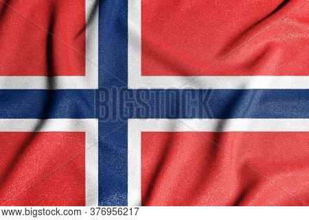 National Flag Of The Norway, Spitsbergen, Bouvet. The Main Symbol Of An Independent Country. Flag Of