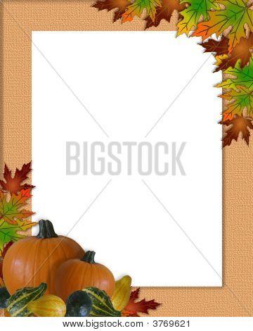 Thanksgiving Fall Autumn Frame Burlap