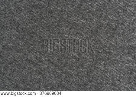 Gray Woolen Plaid Material Close-up. Abstract Background.