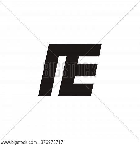 Abstract Letter Ne Simple Geometric Design Symbol Logo Vector