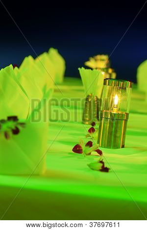 Stylish Lantern On The Table