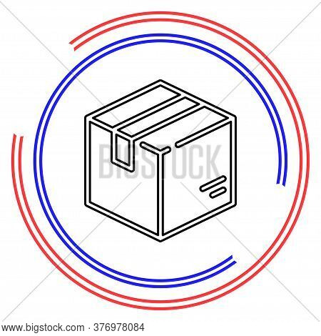 Shipping Box Icon, Vector Shipping Box, Storage Symbol, Vector Cardboard. Thin Line Pictogram - Outl