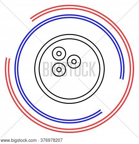 Bowling Icon. Vector Bowling Ball - Bowling Game, Sport Icon. Thin Line Pictogram - Outline Editable