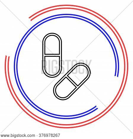 Medical Pills Icon, Medicine Icon, Health Tablet, Drug Symbol, Capsule And Drug - Healthcare Icons.