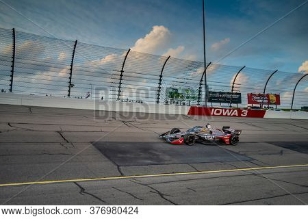 July 17, 2020 - Newton, Iowa, USA: ED CARPENTER (20) Of the United States  races through the turns during the  race for the Iowa INDYCAR 250s at Iowa Speedway in Newton, Iowa.