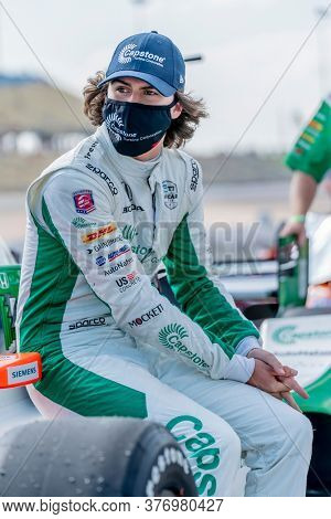 July 17, 2020 - Newton, Iowa, USA: COLTON HERTA (88) of The United States  qualifies for the Iowa INDYCAR 250s at Iowa Speedway in Newton, Iowa.