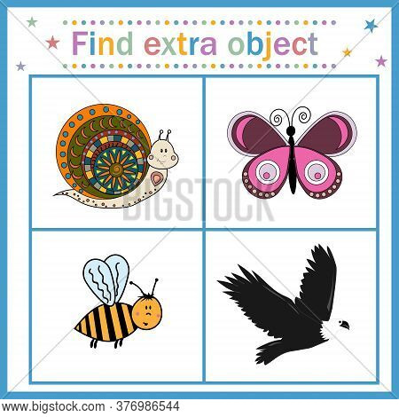 Map For The Development Of Children, Find An Extra Object, Where All Objects With Wings And Can Fly