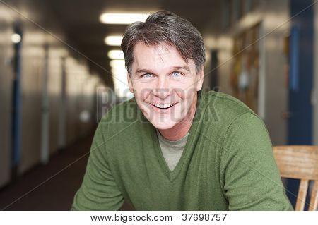 Portrait Of A Mature Happy Man