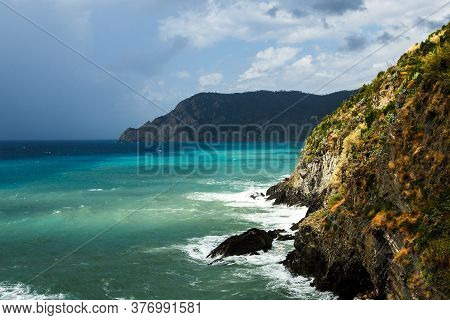 Scenic Landscape Of The Coast Of National Park Cinque Terre, Vernazza, Italy