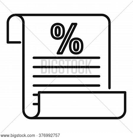 Tax Inform Paper Icon. Outline Tax Inform Paper Vector Icon For Web Design Isolated On White Backgro