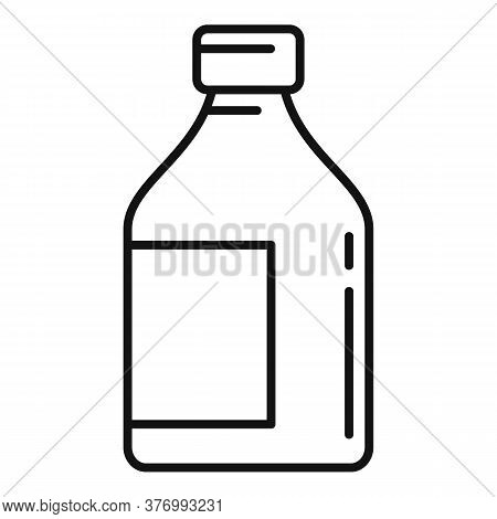 Cough Syrup Icon. Outline Cough Syrup Vector Icon For Web Design Isolated On White Background