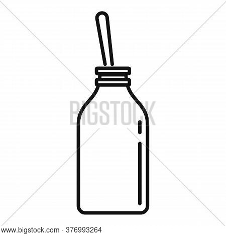 Cough Syrup Bottle Icon. Outline Cough Syrup Bottle Vector Icon For Web Design Isolated On White Bac