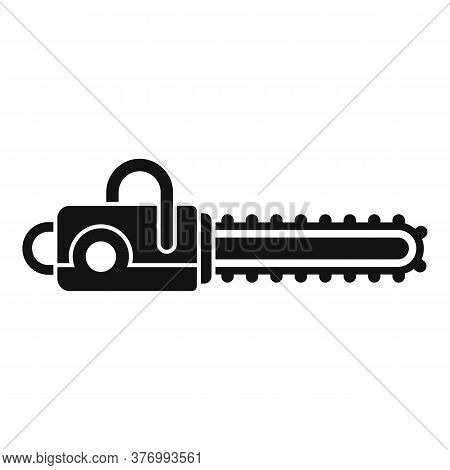 Cutter Chainsaw Icon. Simple Illustration Of Cutter Chainsaw Vector Icon For Web Design Isolated On