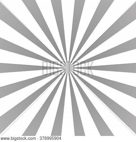 Sun Rays Background. Gray Radiate Sun Beam Burst Effect. Sunbeam Light Flash Boom. Template Starburs