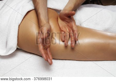 Anti-cellulite Foot Massage Beautiful Photo. Slimming Legs And Hips.