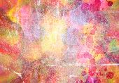 Abstract paint of watercolor use for background poster