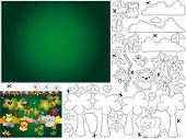 game for children: color cut and paste the jungle poster