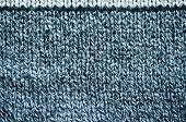 Knitted wool texture background of grey and black color. poster