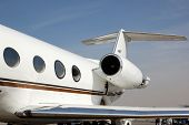 Gulfstream business jet hull aft part view poster
