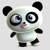 3 d cartoon cute crazy panda toy poster