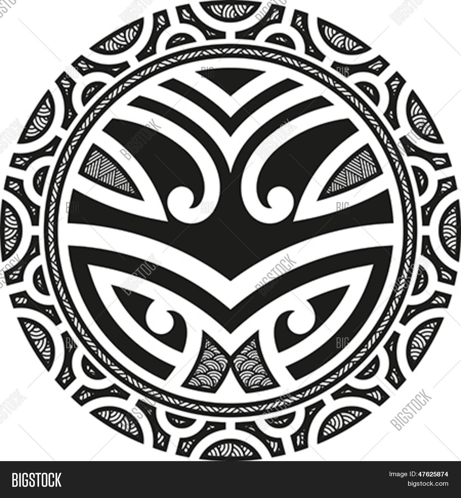 traditional maori taniwha tattoo vector photo bigstock. Black Bedroom Furniture Sets. Home Design Ideas