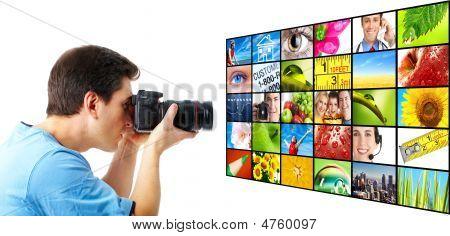 Fotógrafo stock