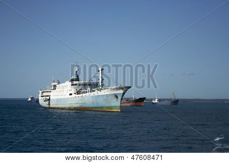 Cargo Ships In Stone Town Port