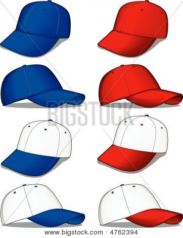 Baseball Hats - Blue And Red Versions