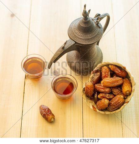 Arabic tea and dates