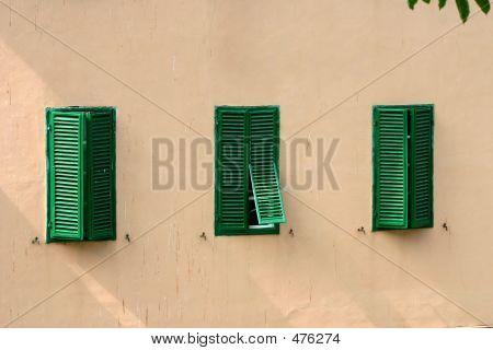 Three Green Shutters