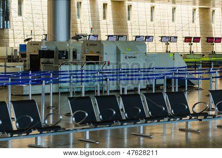 Nobody In International Airport Of Israel On Saturday (shabbat)