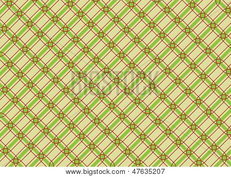 Net Tiles With Red And Green Lines