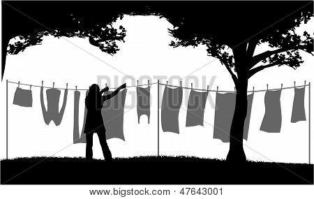 Hanging Laundry Outside