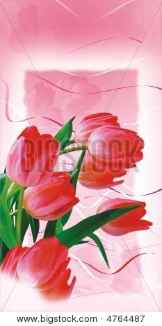 Postcard With Tulips