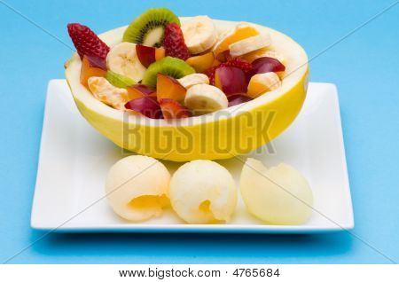 Fruits In A Honeydew