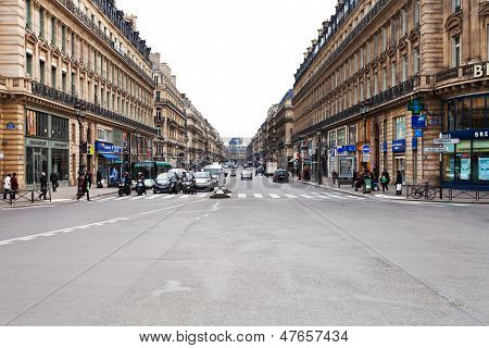 View Of Avenue De L Opera In Paris