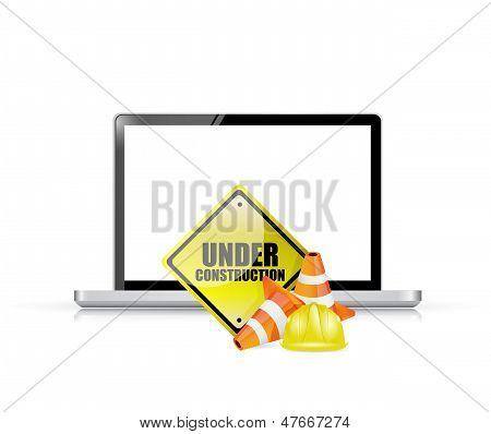 Website Under Construction Concept Illustration