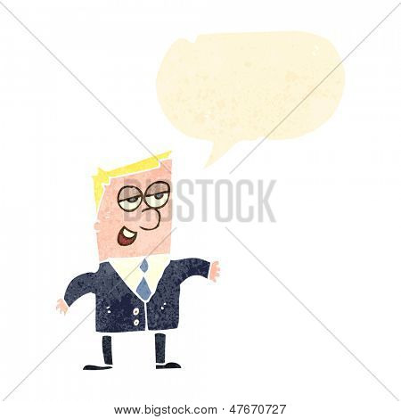 retro cartoon arrogant businessman