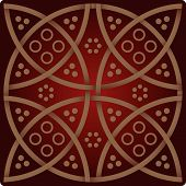The Elegance pattern in wine red colours poster