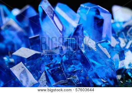 Crystals of blue vitriol - Copper sulfate poster