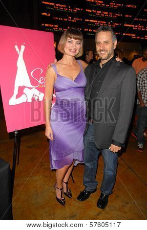 Rena Riffel and director Jeffrey Schwarz  at the Hollywood Film Festival screening of