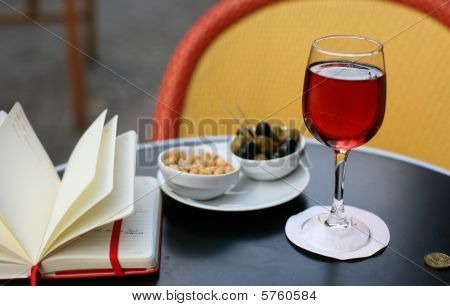 Kir Cassis, Nibbles And And Personal Organizer