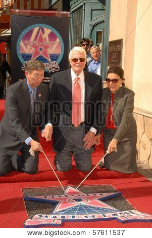 Leron Gubler with Peter Graves and wife Joan Endress  at the Hollywood Walk of Fame induction ceremony for Peter Graves, Hollywood, CA. 10-30-09