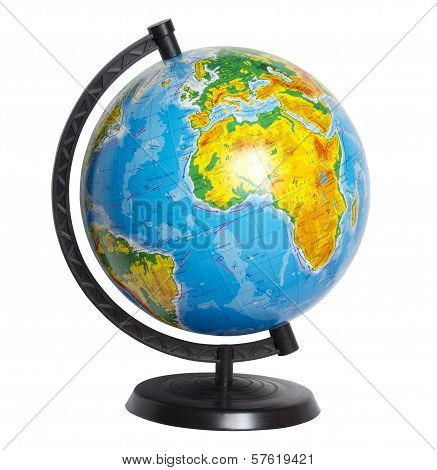 The Map Of Our Planet On The Sphere