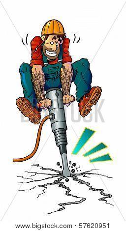 Workman With Jackhammer