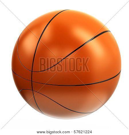Basketball ball, 3d