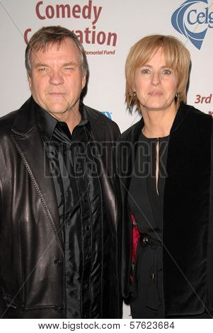 Meat Loaf and wife Deborah Gillespie  at the International Myeloma Foundation's 3rd Annual Comedy Celebration for the Peter Boyle Memorial Fund, Wilshire Ebell Theater, Los Angeles, CA. 11-07-09