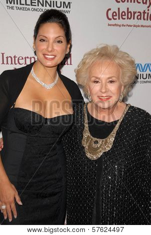 Alex Meneses and Doris Roberts  at the International Myeloma Foundation's 3rd Annual Comedy Celebration for the Peter Boyle Memorial Fund, Wilshire Ebell Theater, Los Angeles, CA. 11-07-09