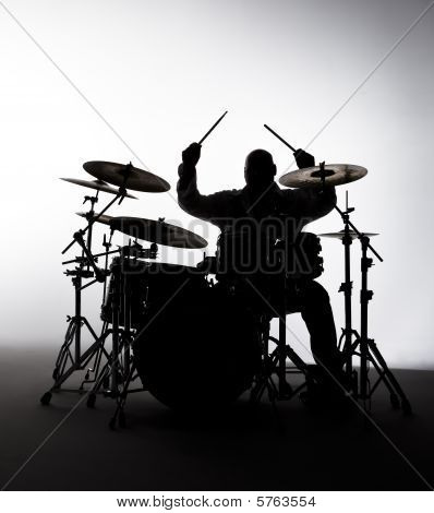 Silouette Of A Drummer